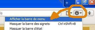 Afficher la barre de menus sous Safari